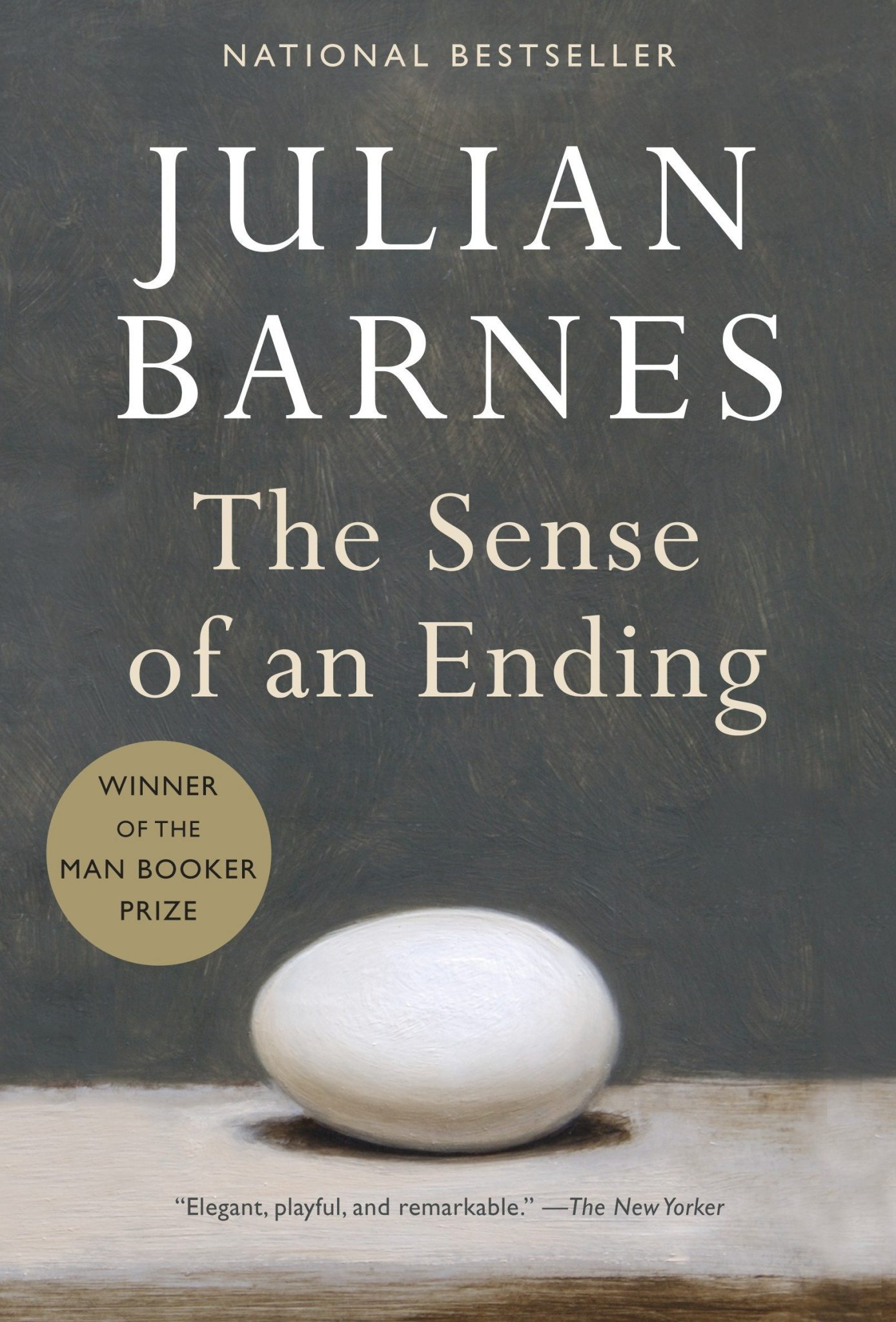 """جولیان بارنز Julian Barnes سال ۲۰۱۱ جایزه """"بوکر"""" را برای رمان درک یک پایان دریافت کرد. """"جولین بارنز"""" قبلا سه بار، در سالهای ۱۹۸۴، ۱۹۹۸ و ۲۰۰۵ به لیست نهایی نامزدهای جایزه بوکر راه پیدا کرده بود اما موفق به دریافت آن نشده بود. زمان داستان این رمان دههی شصت میلادی است که چهل سال بعد توسط یکی از شخصیتها روایت میشود."""