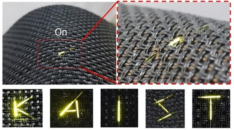 فیبرهای سه بعدی OLED
