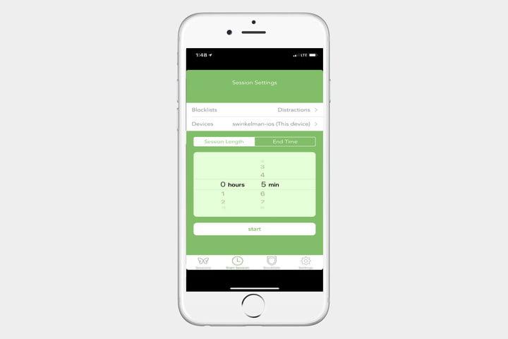 Freedom اجازه میدهد تا شما یک بلک لیست و برنامه زمانبندی شده از اپ هایی که ممکن است بیشتر حواس شما را پرت کنند تهیه کنید.
