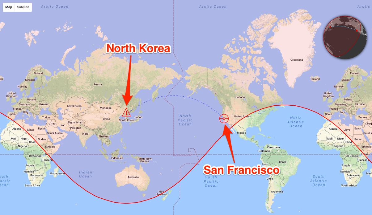 این وب سایت جالب، آسیب های ناشی از انفجار یک موشک هسته ای را تخمین می زند!