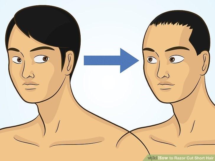 اصلاح موی سر با تیغ