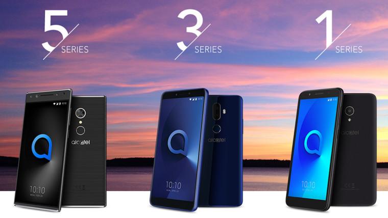 آلکاتل گوشی های جدید سری 5، 3 و 1 معرفی شده در MWC 2018 را عرضه می کند