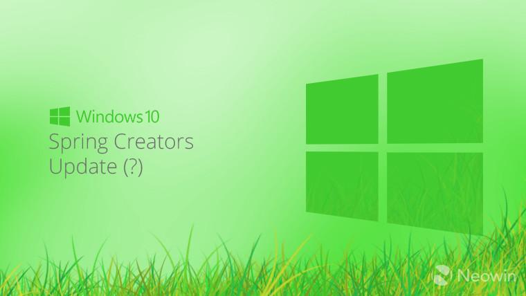 نسخه بعدی ویندوز ۱۰ ممکن است Spring Creators Update نامیده شود