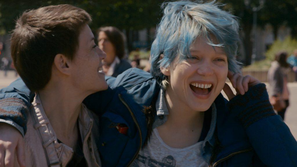 هنر نمایی اَدل اکسارشاپلسAdèle Exarchopoulos در فیلم آبی گرم ترین رنگ است blue is the warmest color