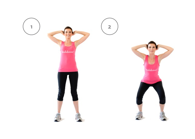 لاغری بعد از زایمان با حرکت Prisoner-squat