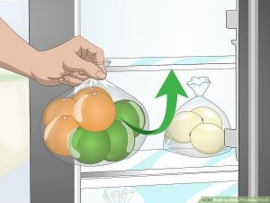 پرتقال ها و سایر مرکبات را بسته بندی کنید و در یخچال قرار دهید.