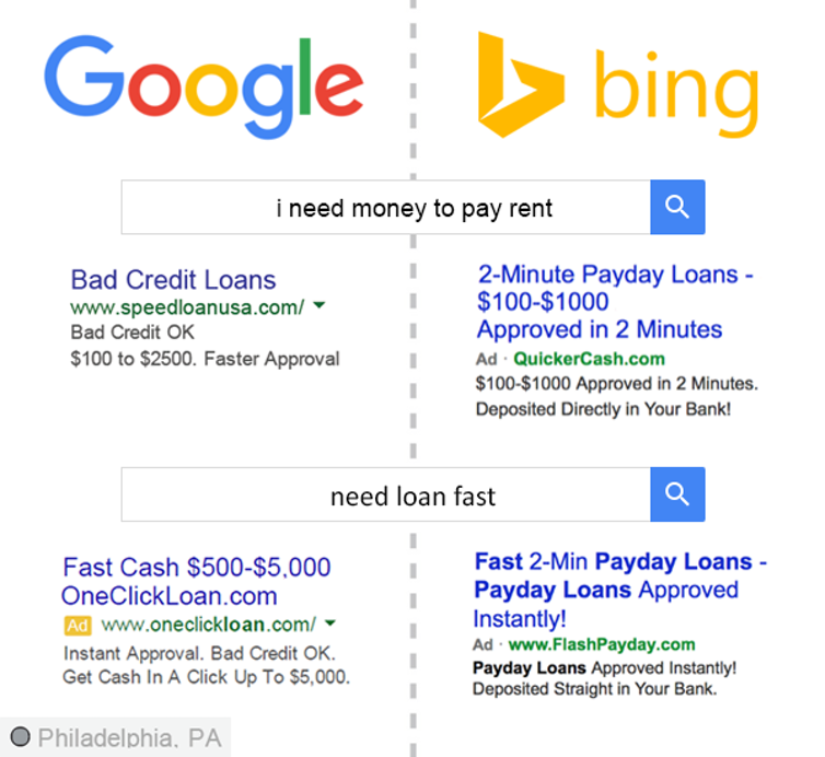 جستجوهای شما می تواند نشان دهنده وضعیت مالی تان باشد