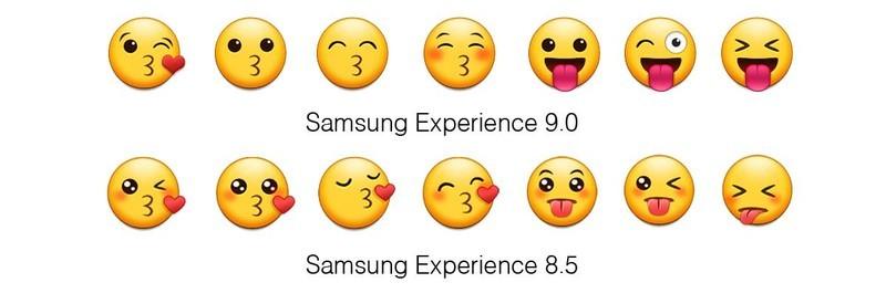 سامسونگ در Samsung Experience 9.0ایموجی های پیشین خود را اصلاح کرده و چند ایموجی وحشتناک به مجموعه خود اضافه کرده است!