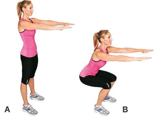 لاغری بعد از زایمان با حرکت squat