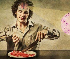جنون گاوی توسط خوردن گوشت آلوده منتقل می شود