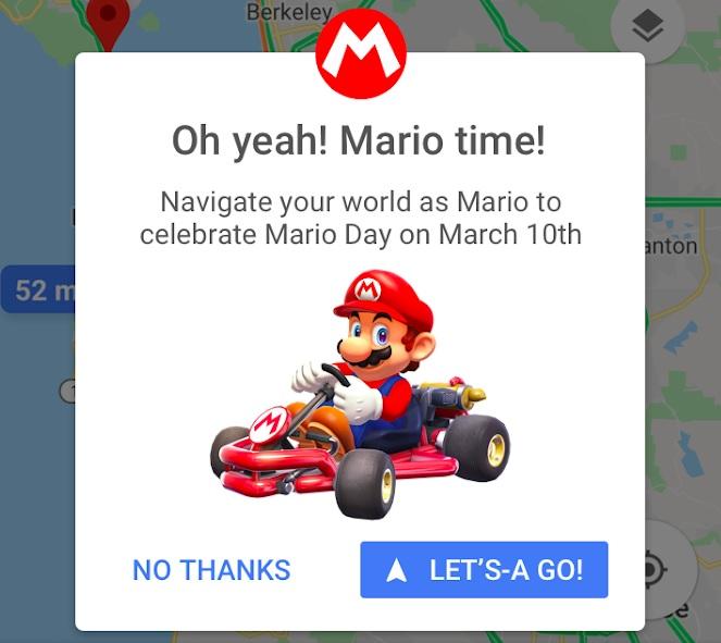 از امروز ماریو در گوگل مپ ظاهر می شود