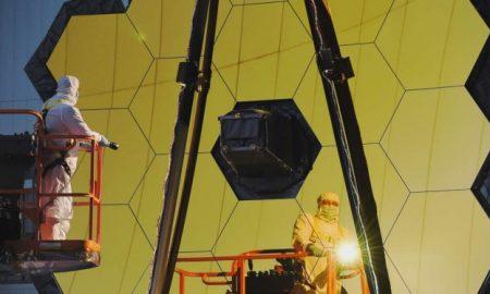 تلسکوپ فضایی جیمز وب (JWST) در مرکز سفرهای فضایی گادرد ناسا در مریلند
