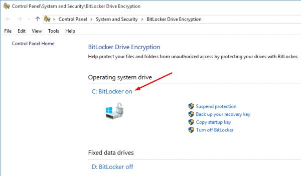 نرم افزار BitLocker