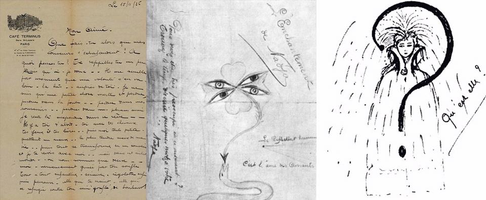 نامه و نقاشیهای نادیا برای آندره برتون