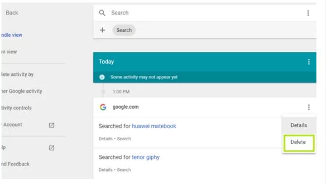 تاریخچه جستجوهای شما در گوگل