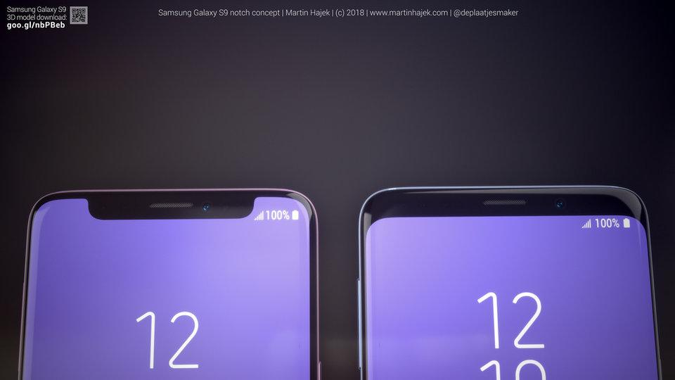 کانسپت گلکسی S9 با بریدگی بالای نمایش