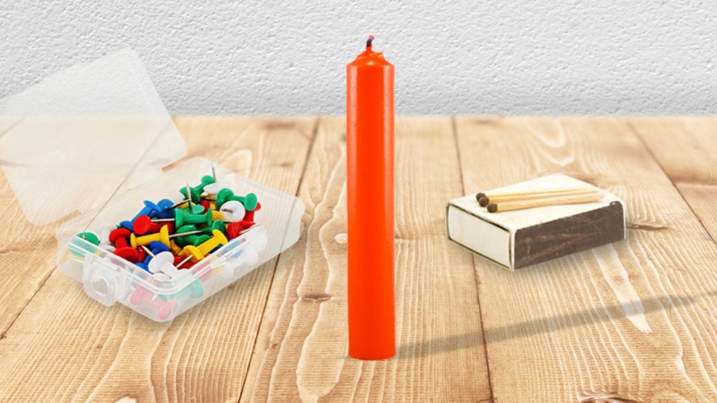 شمع، جعبه ی پونز، کبریت