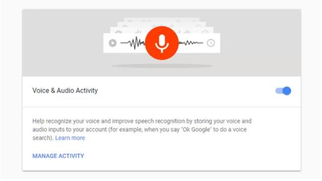 تاریخچه صداهای ضبط شده شما در گوگل