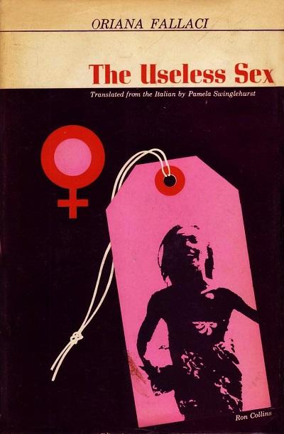طرح جلد کتاب جنس ضعیف (با عنوان فرعی گزارشی از وضعیت زنان در جهان و عنوان کامل The Useless Sex: Voyage around the Woman)