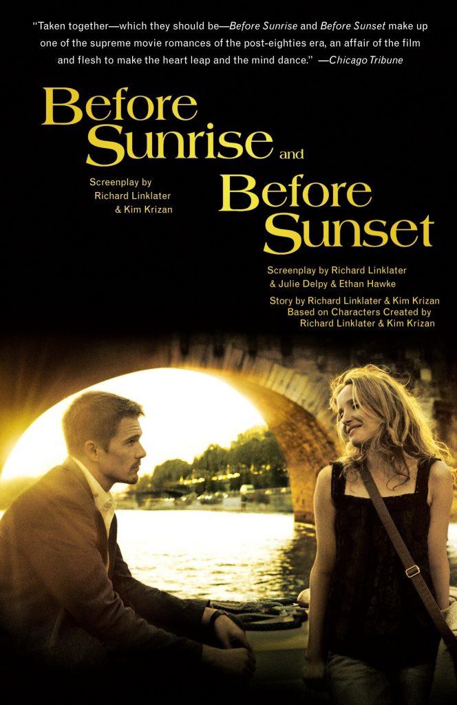 """در فیلم Before Sunset """"پیش از غروب"""" ما شاهد همان زوج پیشین هستیم که هر کدام به اندازهی۹ سال بالغتر شدهاند و به اندازه ۹ سال تجربیات بیشتری به دستآوردهاند. مکالمهها به همان شکل روان سابق ادامه پیدا میکنند."""