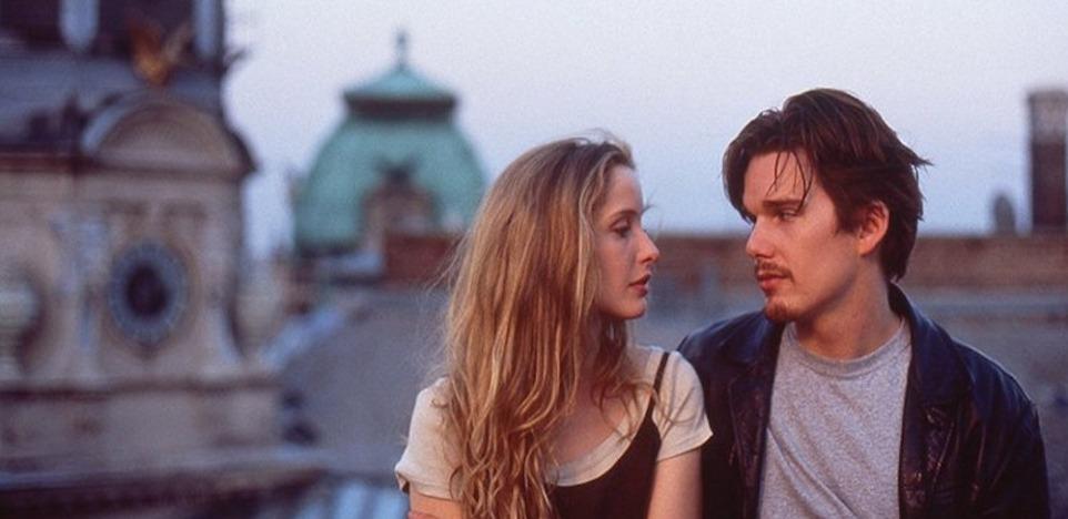 هنرنمایی Ethan Hawke و Julie Delpy در فیلمBefore Sunrise کاری از ریچارد لینکلیتر ۱۹۹۵