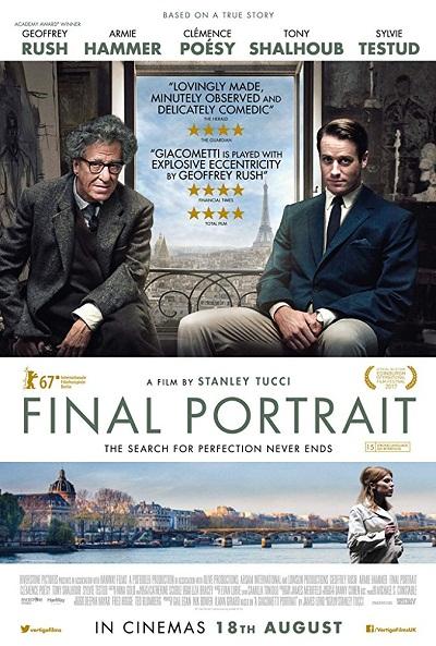 فیلم Final Portrait فیلمی زندگی نامه محور از نقاش و مجسمه سازی بزرگ است که دیدنش برای دوستداران وی خالی از لطف نیست.