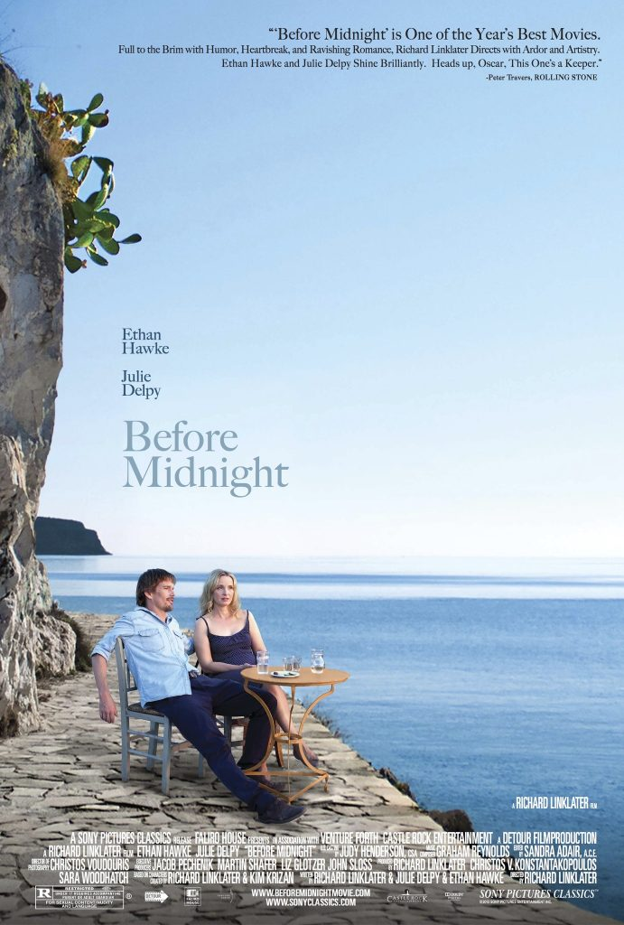 پوستر فیلم Before Midnight یا پیش از نیمه شبسومین قسمت از یک مجموعهی سه قسمتی است به کارگردانی ریچارد لینکلیترRichard Linklater