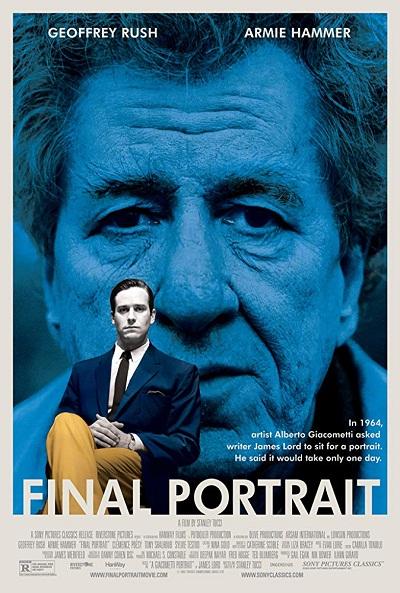 فیلم Final Portrait به روایت جیمز لرد جوان منتقد آمریکایی و بر اساس یک رویداد واقعی ساخته شده است.
