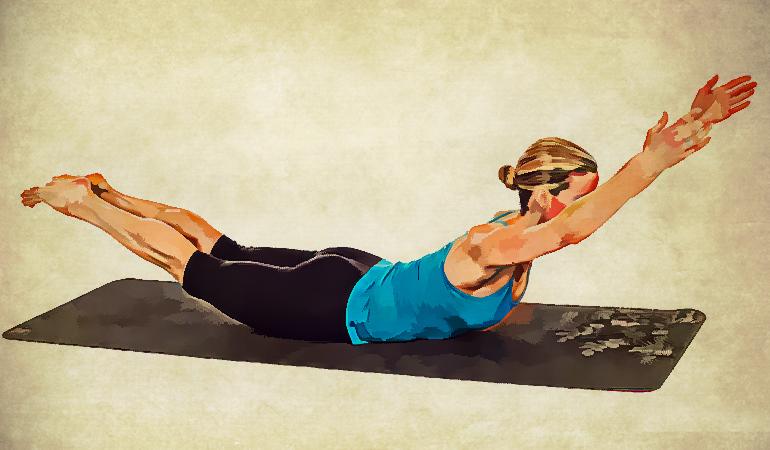 حرکت قو پیلاتس برای گردن درد