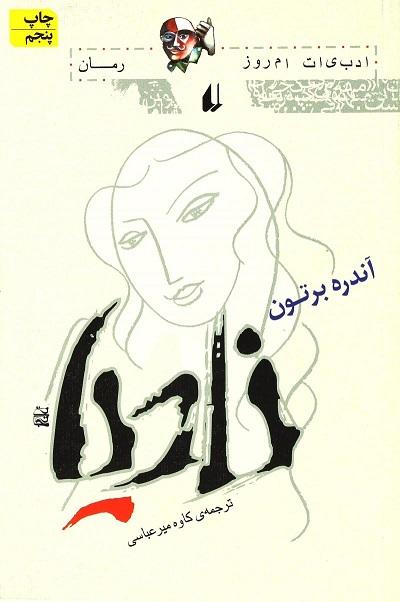 طرح جلد نسخه فارسی رمان نادیا نوشته آندره برتون و ترجمه کاوه میرعباسی