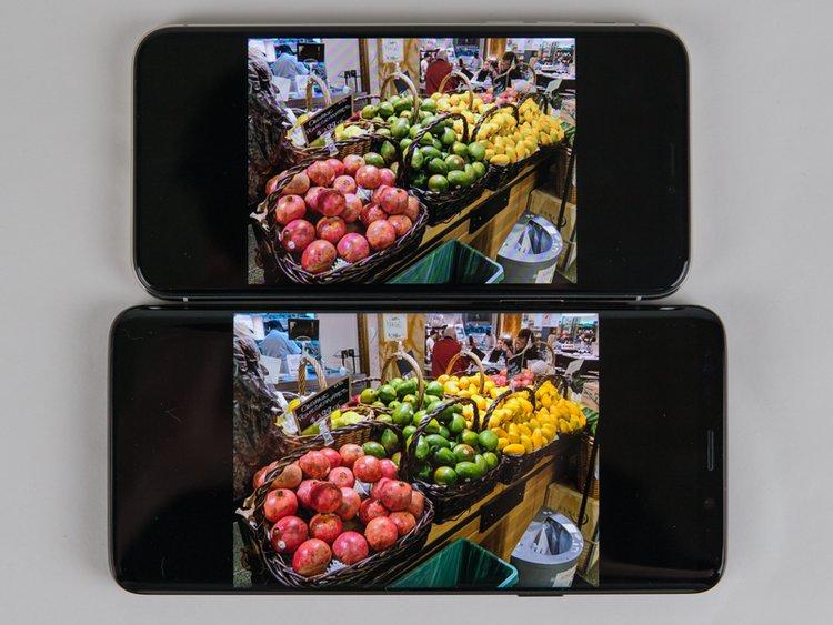 صفحه نمایش Galaxy S9 در مقایسه با iPhone X
