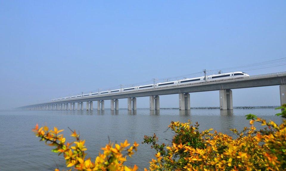 پل باشکوه Danyang-Kunshan در کشور چین