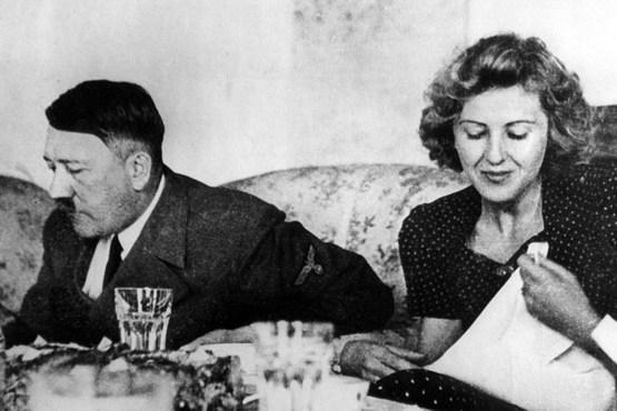 تصویری از هیتلر و اوا براون
