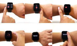 ساعت هوشمندی که دست شما را به یک صفحه لمسی تبدیل میکند