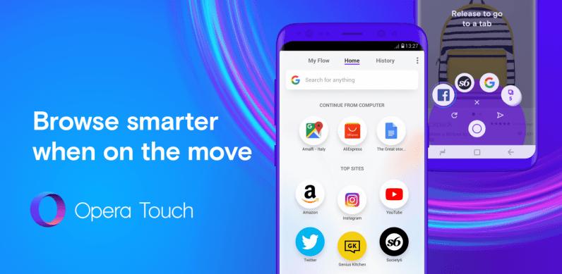 معرفی مرورگر Opera Touch