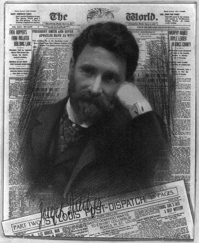 سال ۱۸۸۲ پولیتزر مردی متمول و ثروتمند بود و موفق شد امتیاز روزنامهٔ نیویورک ورلد را به مبلغ ۳۴۶۰۰۰ دلار از جی گولد خریداری کند. این روزنامه که پیش از آن، سالانه ۴۰ هزار دلار ضرر به بار میآورد، با درایت و مدیریت علمی پولیتزر به روزنامهای پرتیراژ تبدیل گشت.