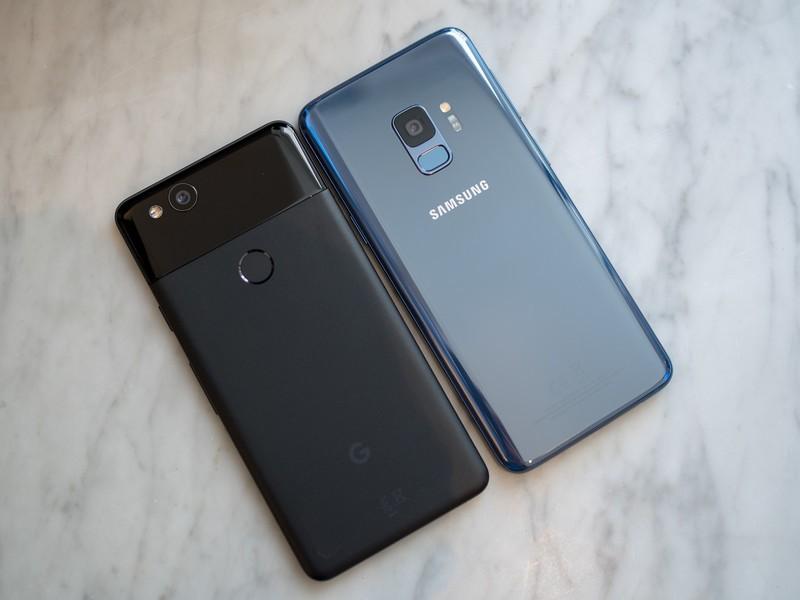 مقایسه کامل گوشی سامسونگ گلکسی S9 و پیکسل 2