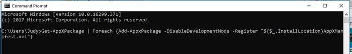 تعمیر Setting در ویندوز 10 با استفاده از Command Prompt