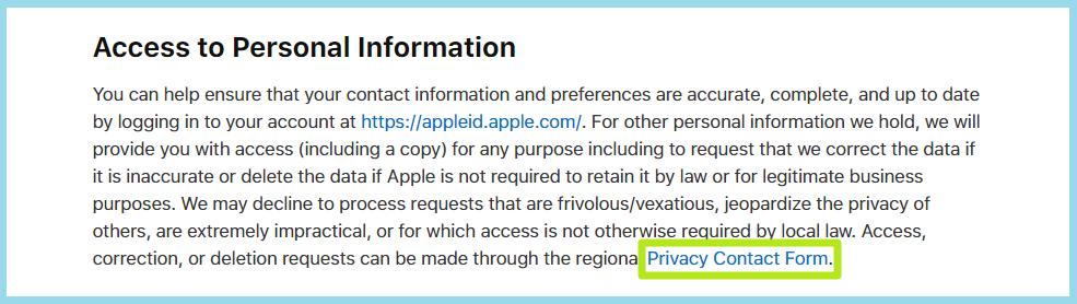 اپل - Apple's Privacy Policy