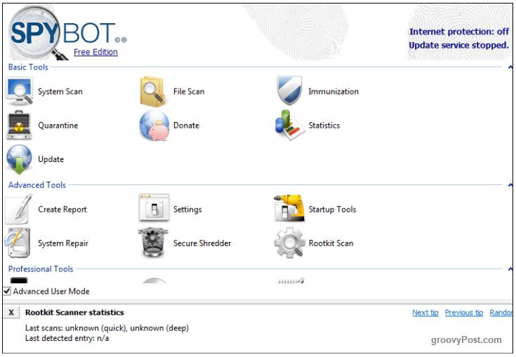 نسخه پورتابل Spybot Search & Destroy