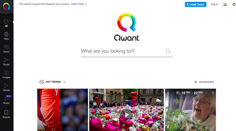 موتور جستجو Qwant