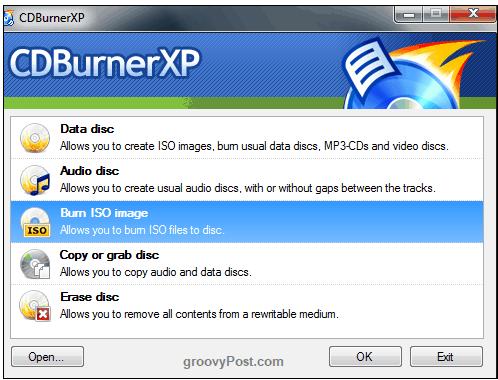 نسخه پورتابل CDBurnerXP