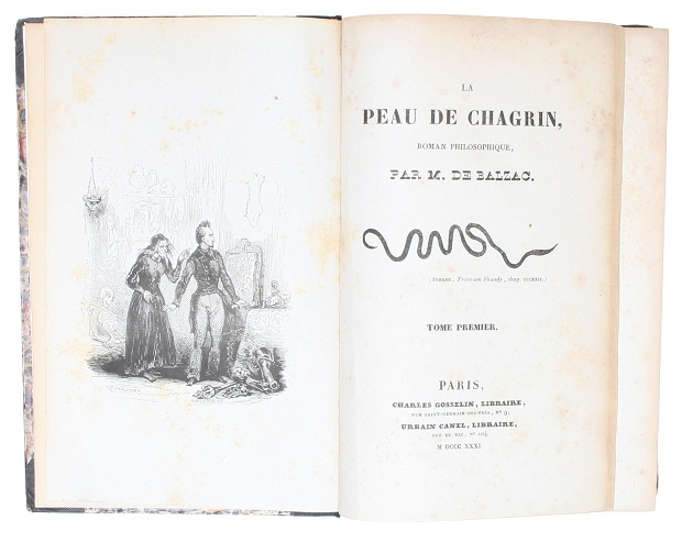 Honoré de Balzac در چرم ساغری تضاد میان تدبیر و تقدیر را نشان میدهد و براین باور است که اگر انسان مهار خود را به دست تقدیر رها کند به نیاز مادی که میخواهد میرسد.