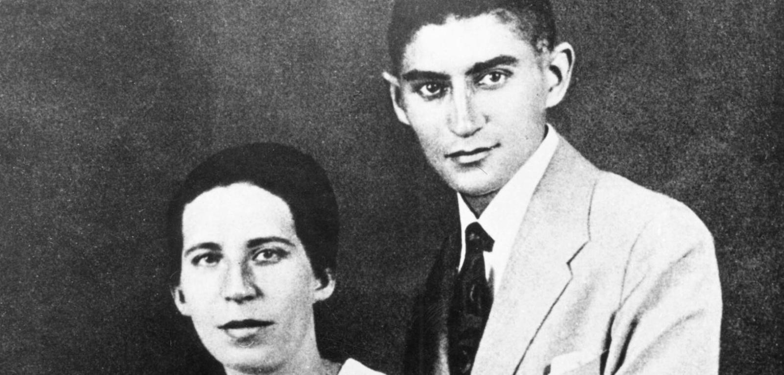فرانتس کافکا به همراه نامزدش فلیسه باوئر