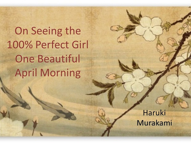 """در یکی از فرعی های تنگِ منطقه شیکِ هاراجوکوِ توکیو از کنار دختر صددرصد ایدهآلم رد میشوم. راستش را بخواهید، آنقدرها خوشگل نیست. هیچ ویژگی خاصی ندارد. لباسهایش ابداً استثنائی نیستند. از خواب بیدار شده و موهای پشت سرش تاخورده است. جوان هم نیست. با این وجود از پنجاه یاردی میتوانم بفهمم: او دختر صددرصد ایدهال من است. """"از داستان"""""""