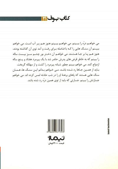 خانه کوچک ما که یازدهمین داستان این مجموعه است که عنوان این مجموعه داستانی از روی این داستان برداشته شده است. افراد یک خانواده زندگی حقیرانه و سختی دارند. زندگی را پوچ و بی هدف میگذرانند. فرد غریبهای وارد زندگی آنها میشود و زندگی راوی داستان را تحت تاثیر قرار میدهد.خانه کوچک ما در سال ۱۳۹۵ برای نخستین بار توسط نشر نیماژ در تهران به چاپ رسیده است.