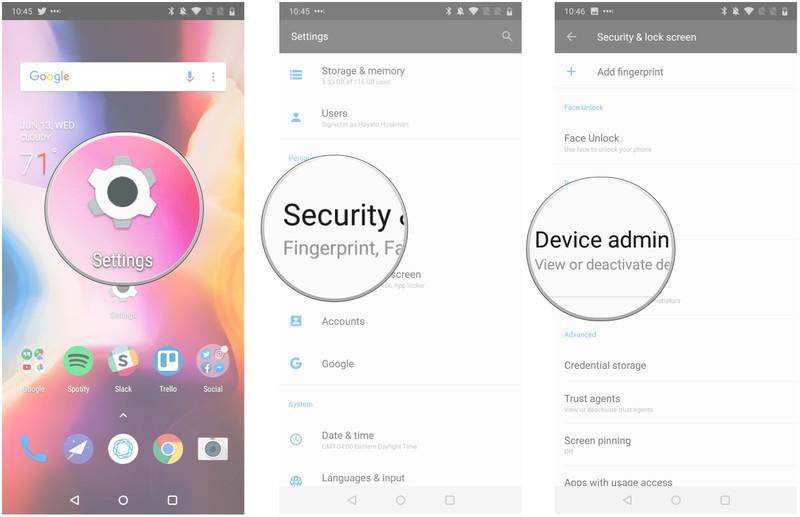 فعال کردن Find My Device در گوشی برای ردیابی گوشی اندروید
