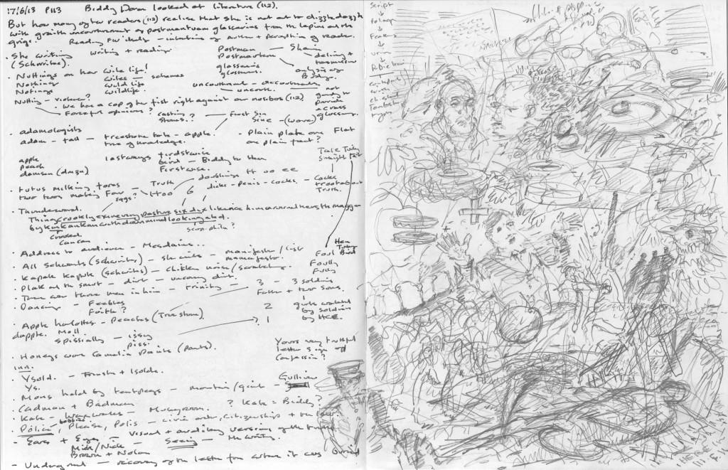 جیمز جویس در خلق رمان بیداری فینیگان ها (رمان Finnegans Wake در برخی از منابع با عنوان شب زنده داری فینگن ها ترجمه شده است.) آن چنان از تمام قدرت ادبی خود نهایت استفاده را به کار گرفته که مخاطب با فضایی سرگیجه آور در سیالیت ذهن، تک گویی درونی چه مستقیم و چه غیر مستقیم، استفاده بینامتنیت از اسطورهها و متون کهن البته بدون نقل قول! روبرو میشود.
