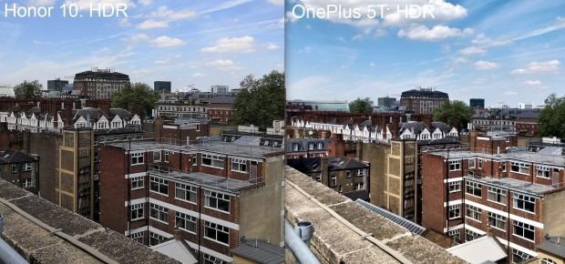 مقایسه ی حالت HDR در آنر 10 و OnePlus 5T