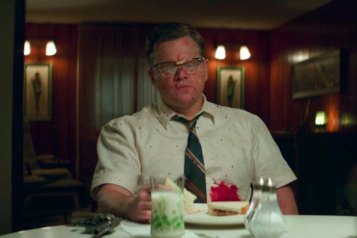 هنرنمایی مت دیمون Matt Damon در فیلم Suburbicon ساختهی جورج کلونی
